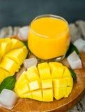 Mango shake. Fresh tropical fruit smoothies Royalty Free Stock Images