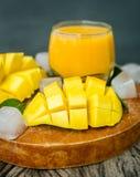Mango shake. Fresh tropical fruit smoothies Stock Photography