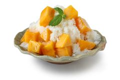 Mango shaved ice dessert Royalty Free Stock Photos