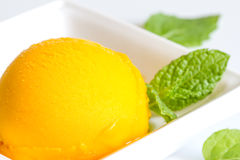 Mango sherbet with mint Stock Photography