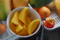 Mango slice Stock Photos