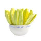 Mango slice in bowl Royalty Free Stock Image