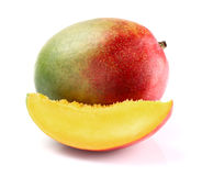 Mango with slice Stock Images