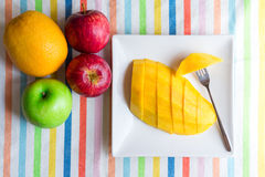 Mango sliced Royalty Free Stock Photos