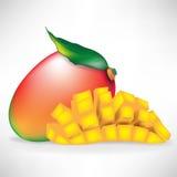 Mango and sliced mango Stock Photo