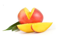 Mango with slices Stock Photos