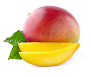 Mango with slices Royalty Free Stock Images