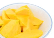 Mango slices fruit Stock Image