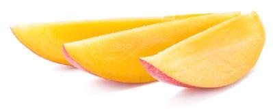 Mango slices. Isolated on a white background. Stock Photo