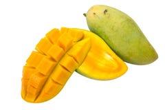 Mango slices isolated on white background Royalty Free Stock Photos