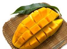 Mango slices isolated on white background Royalty Free Stock Photo