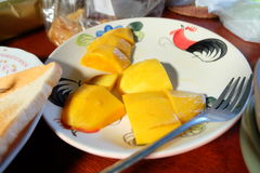 Mango Slices Stock Photography
