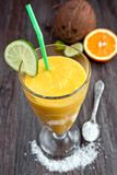 Mango smoothie Royalty Free Stock Photos
