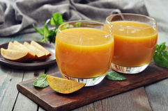 Mango smoothie Stock Images