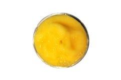 Mango Smoothie mit lokalisiertem weißem Hintergrund lizenzfreies stockbild