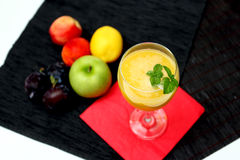 Mango Smoothie Refreshing Cocktail Royalty Free Stock Photography