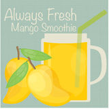 Mango Smoothie-Vektor Stockfoto