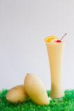 Mango Smoothie on white Royalty Free Stock Image