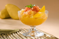 Mango Sorbet with Chili Sauce Stock Photography