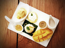 Mango. Sticky rice royalty free stock photo