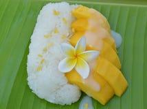 Mango sticky rice. Stock Photography