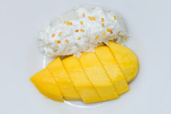 Mango with sticky rice dessert Royalty Free Stock Image