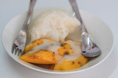 Mango sticky rice Royalty Free Stock Image