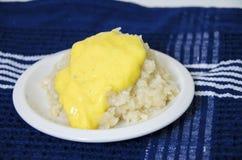 Mango sticky rice Stock Photography
