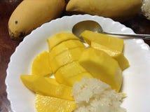 Mango and sticky rice Stock Image