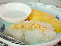 Mango Sticky Rice. Is a popular dessert in Thailand Stock Photography