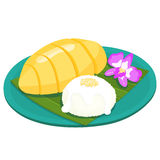 Mango with sticky rice thai dessert  Royalty Free Stock Images