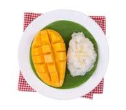 Mango sticky rice. Thai style dessert, mango with glutinous rice Stock Photo