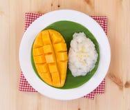 Mango sticky rice. Thai style dessert, mango with glutinous rice Stock Photography