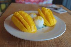 Mango with Sticky Rice Stock Image