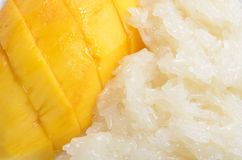 Mango with Sticky Rice Royalty Free Stock Photography