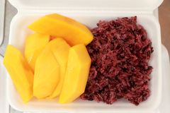Mango sticky rice - Thailand desserts Royalty Free Stock Image