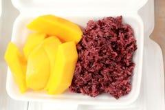 Mango sticky rice - Thailand desserts Stock Photos
