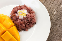 Mango with sticky rice, traditional dessert of thailand. Stock Photography