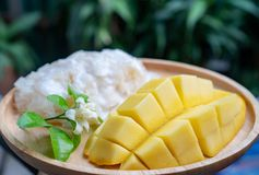 Mango and sticky rice royalty free stock image