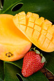 Mango and Strawberry Royalty Free Stock Photos