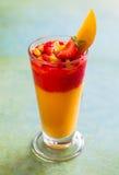 Mango and strawberry smoothie Stock Photo