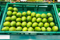 Mango in Supermarket Stock Photo