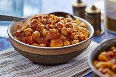 Mango sweet potato curry royalty free stock images
