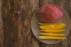 Mango on the table Royalty Free Stock Image