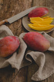 Mango on the table Royalty Free Stock Photography