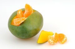 Mango and tangerine Stock Photo
