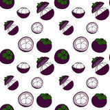 Mango-teen seamless pattern by hand drawing on white backgrounds Stock Photos