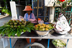 Mango trader. Royalty Free Stock Photo