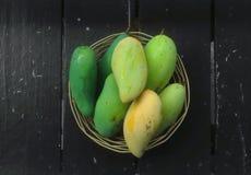 Mango in tray Stock Photos