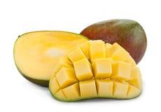 Mango tropical fruit 0n white Royalty Free Stock Images